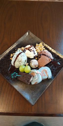 チョコミントのプレート